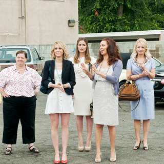 Ellie Kemper, Melissa McCarthy, Kristen Wiig, Rose Byrne, Maya Rudolph and Wendi McLendon-Covey in Universal Pictures' Bridesmaids (2011)