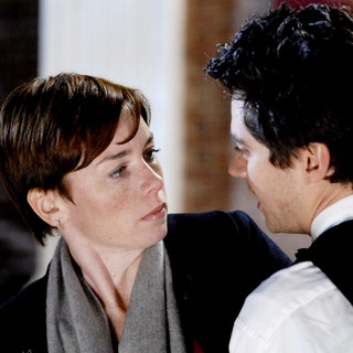 Julianne Nicholson stars as Sara Quinn and Dominic Cooper stars as Daniel in IFC Films' Brief Interviews with Hideous Men (2009)