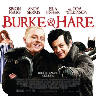 Isla Fisher, Simon Pegg and Andy Serkis in IFC Films' Burke and Hare (2011)