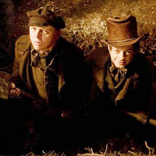 Simon Pegg stars as William Burke and Andy Serkis stars as William Hare in IFC Films' Burke and Hare (2011)