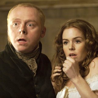 Simon Pegg stars as William Burke and Isla Fisher stars as Ginny in IFC Films' Burke and Hare (2011)