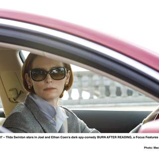 Tilda Swinton stars in Joel and Ethan Coen's dark spy-comedy BURN AFTER READING, a Focus Features release.