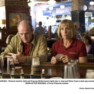 Richard Jenkins (left) and Frances McDormand (right) star in Joel and Ethan Coen's dark spy-comedy BURN AFTER READING, a Focus Features release.