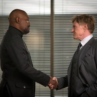 Samuel L. Jackson stars as Nick Fury and Robert Redford stars as Alexander Pierce in Walt Disney Pictures' Captain America: The Winter Soldier (2014) - ca-the-winter-soldier-still06