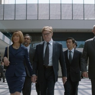 Captain America: The Winter Soldier - Jenny Agutter stars as World Security Council member and Robert Redford stars as Alexander Pierce in Walt Disney Pictures' Captain America: The Winter Soldier (2014)