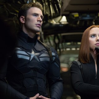 Captain America: The Winter Soldier - Chris Evans stars as Steve Rogers/Captain America and Scarlett Johansson stars as Natasha Romanoff/Black Widow in Walt Disney Pictures' Captain America: The Winter Soldier (2014)