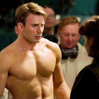 Chris Evans stars as Steve Rogers and Hayley Atwell stars as Peggy Carter in Paramount Pictures' Captain America: The First Avenger (2011). Photo credit by: Jay Maidment.