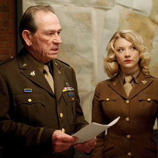 Tommy Lee Jones stars as Col. Chester Phillips and Natalie Dormer stars as Private Lorraine in Paramount Pictures' Captain America: The First Avenger (2011)