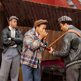 Kevin Mambo, Columbus Short and Jeffrey Wright in Sony BMG Feature Films' Cadillac Records (2008). Photo credit by Eric Liebowitz.
