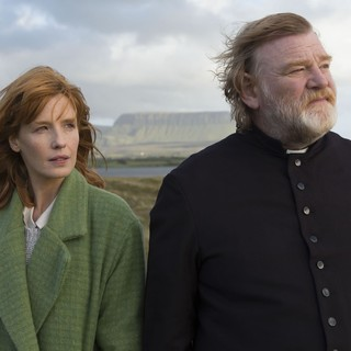 Brendan Gleeson (stars as Father James Lavelle) and Kelly Reilly in Fox Searchlight Pictures' Calvary (2014)