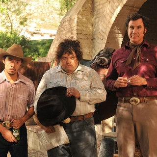 Efren Ramirez, Adrian Martinez and Will Ferrell in Pantelion Films' Casa De Mi Padre (2012). Photo credit by John Estes.