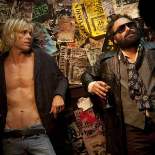 Johnny Galecki	stars as Terry Ork and Taylor Hawkins stars as Iggy Pop in XLrator Media's CBGB (2013)