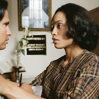 Michael Pena stars as Cesar E. Chavez and Rosario Dawson stars as Dolores Huerta in Lionsgate Films' Cesar Chavez (2014) - cesar-chavez06