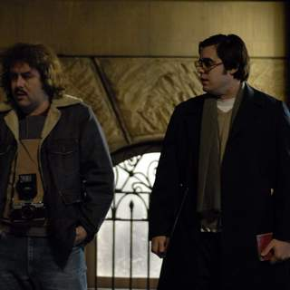 Judah Friedlander as Paul and Jared Leto as Mark David Chapman in Peace Arch Entertainment's Chapter 27 (2008) - chapter_27_04