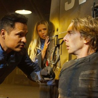 Michael Pena, Kristen Bell and Dax Shepard in Warner Bros. Pictures' CHiPs (2017)