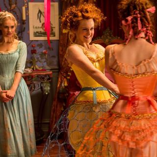 Cinderella - Lily James stars as Cinderella and Sophie McShera stars as stars as Drizella in Walt Disney Pictures' Cinderella (2015)