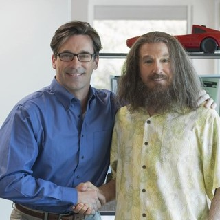 Jon Hamm stars as Will Haney and Larry David stars as Nathan Flomm/Rolly DaVore in HBO Films' Clear History (2013) - clear-history01