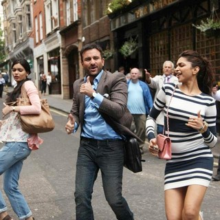 Diana Penty, Saif Ali Khan and Deepika Padukone in Eros International's Cocktail (2012)