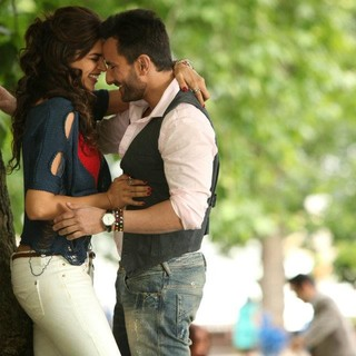 Deepika Padukone stars as Veronica D'Costa and Saif Ali Khan stars as Gautam in Eros International's Cocktail (2012)