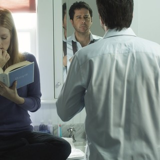 Jennifer Finnigan stars as Laurie and Jonathan Silverman stars as Brad in Tribeca Film's Conception (2012). Photo credit by Noah Rosenthal.