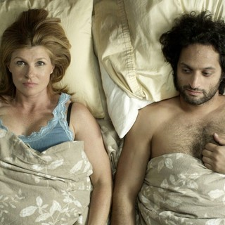 Connie Britton stars as Gloria and Jason Mantzoukas stars as Brian in Tribeca Film's Conception (2012). Photo credit by Noah Rosenthal.