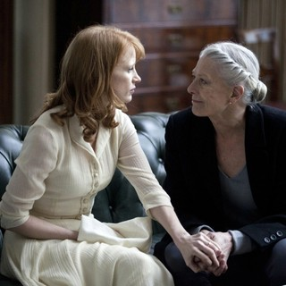 Jessica Chastain stars as Virgilia and Vanessa Redgrave stars as Volumnia in The Weinstein Company's Coriolanus (2012)