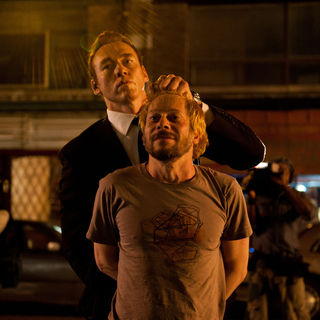 Cosmopolis - Kevin Durand stars as Torval and Paul Giamatti stars as Benno Levin in Entertainment One's Cosmopolis (2012)