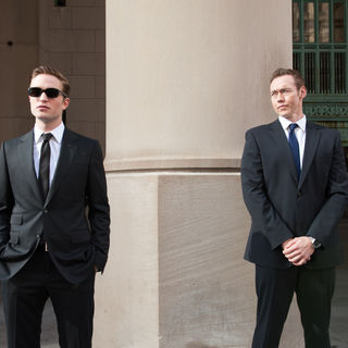 Robert Pattinson stars as Eric Packer and Kevin Durand stars as Torval in Entertainment One's Cosmopolis (2012)