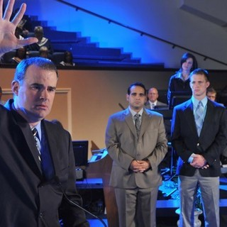 Alex Kendrick, Kevin Downes, Matt Hardwick and Ken Bevel in TriStar's Courageous (2011)