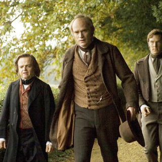 Toby Jones stars as Thomas Huxley and Paul Bettany stars as Charles Darwin in Newmarket Films' Creation (2010) - creation25