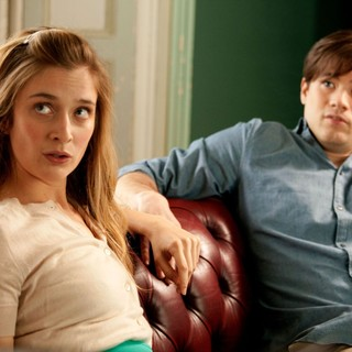 Caitlin Fitzgerald stars as Priss and Ryan Metcalf stars as Frank in Sony Pictures Classics' Damsels in Distress (2012). Photo credit by Sabrina Lantos.