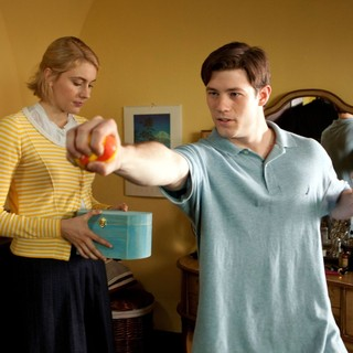 Greta Gerwig stars as Violet and Ryan Metcalf stars as Frank in Sony Pictures Classics' Damsels in Distress (2012). Photo credit by Kerry Brown.