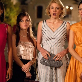 Megalyn Echikunwoke, Carrie MacLemore, Greta Gerwig and Analeigh Tipton in Sony Pictures Classics' Damsels in Distress (2012). Photo credit by Sabrina Lantos.