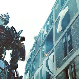 A scene from DreamWorks SKG's Transformers: Dark of the Moon (2011). Photo credit by Robert Zuckerman.