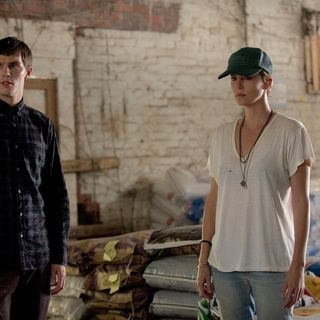 Nicholas Hoult stars as Lyle Wirth and Charlize Theron stars as Libby Day in A24's Dark Places (2015)