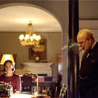 Gary Oldman stars as Winston Churchill in Focus Features' Darkest Hour (2017)
