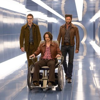 Nicholas Hoult, James McAvoy and Hugh Jackman in 20th Century Fox's X-Men: Days of Future Past (2014)