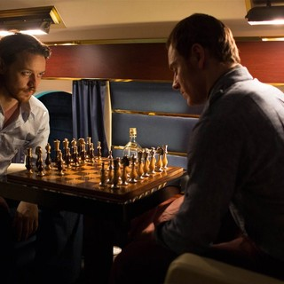 X-Men: Days of Future Past - James McAvoy stars as Charles Xavier and Michael Fassbender stars as Erik Lehnsherr/Magneto in 20th Century Fox's X-Men: Days of Future Past (2014). Photo credit by Alan Markfield.