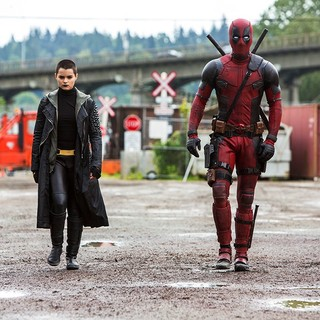 Deadpool - Brianna Hildebrand stars as Ellie Phimister/Negasonic Teenage Warhead and Deadpool in 20th Century Fox's Deadpool (2016)