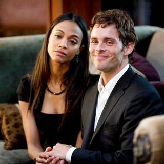 Zoe Saldana and James Marsden in Screen Gems' Death at a Funeral (2010)