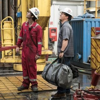 Mark Wahlberg stars as Mike Williams and Dylan O'Brien stars as Caleb Holloway in Lionsgate Films' Deepwater Horizon (2016)