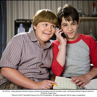 Robert Capron stars as Rowley Jefferson and Zachary Gordon stars as Greg Heffley in The 20th Century Fox's Diary of a Wimpy Kid: Dog Days (2012). Photo credit by Diyah Pera. - diary-a-wimpy-kid-dog-days02