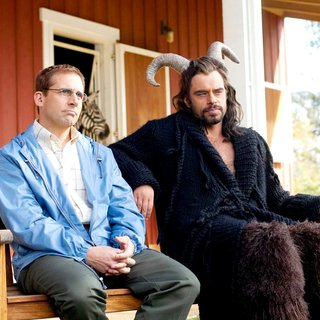 Steve Carell stars as Barry and Jemaine Clement stars as Kieran Vollard in Paramount Pictures' Dinner for Schmucks (2010). Photo by Merie Weismiller Wallace - dinner_for_schmucks06