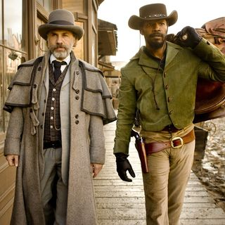 Django Unchained - Christoph Waltz stars as Dr. King Schultz and Jamie Foxx stars as Django in The Weinstein Company's Django Unchained (2012). Photo credit by Andrew Cooper.
