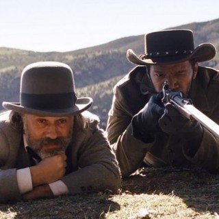 Django Unchained - Christoph Waltz stars as Dr. King Schultz and Jamie Foxx stars as Django in The Weinstein Company's Django Unchained (2012)