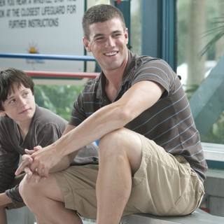Nathan Gamble stars as Sawyer Nelson and Austin Stowell stars as Kyle in Warner Bros. Pictures' Dolphin Tale (2011)