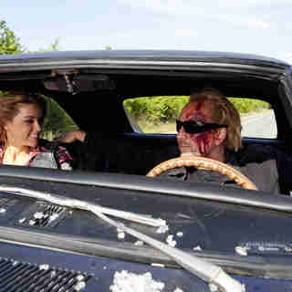 Amber Heard stars as Piper and Nicolas Cage stars as Milton in Summit Entertainment's Drive Angry (2011)