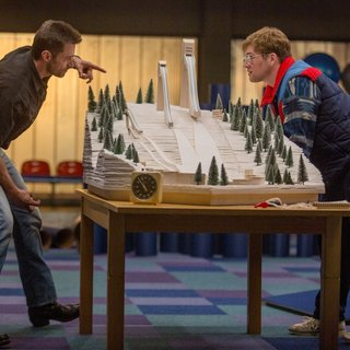 Hugh Jackman stars as Bronson Peary and Taron Egerton stars as Eddie Edwards in 20th Century Fox's Eddie the Eagle (2016)