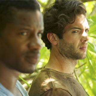 Nate Parker stars as Slim and Ethan Peck stars as Andreas in Vertical Entertainment's Eden (2015)