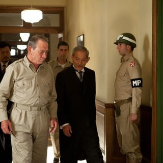 Tommy Lee Jones stars as General Douglas MacArthur and Isao Natsuyagi stars as Teizaburo Sekiya in Roadside Attractions' Emperor (2013)